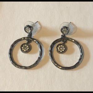 🆕Listing! Chico's metallic dark gray earrings